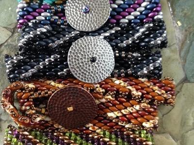 Wrap It Up Bracelet - Diagonal Peyote with SuperDuos