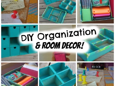 Back to School: DIY Organization & Room decor! Super cheap and easy!