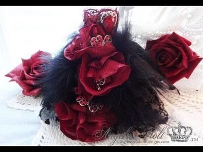 Black & Red Art Dress Tutorial