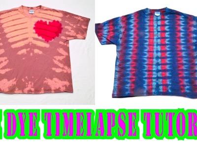Bleach Tie Dye TimeLapse Tutorial - Heart & Lines [Part 3]