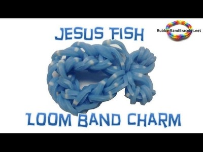 Christian Jesus Fish Easter - Rainbow Loom Band Charm