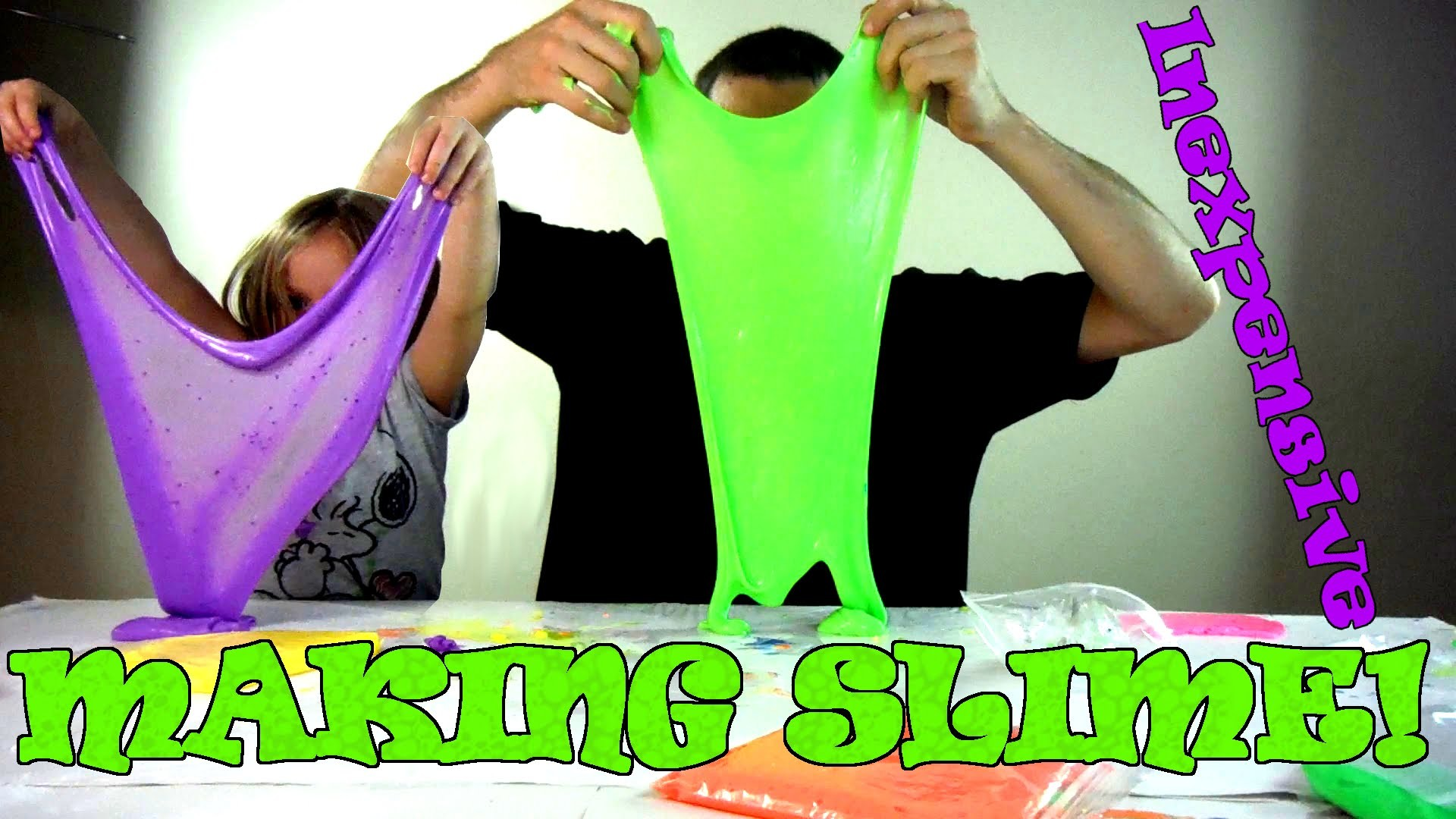 DIY | How to Make Awesome Slime (gak) With Borax and Glue