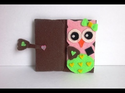 DIY Owl Cell Cover And Card Holder