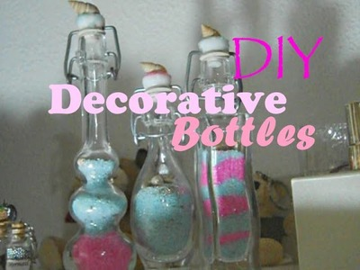 DIY Room Decor ♥ Decorative Glass Bottles ♥ Easy, Cheap & Cute | FairyFashionArt