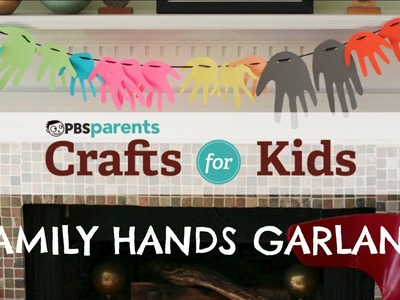 Family Hands Garland   Christmas Crafts for Kids   PBS Parents