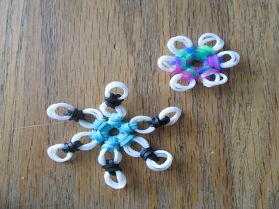 Hook Only- Snowflake and Flower Ornament Charm (Original Design)