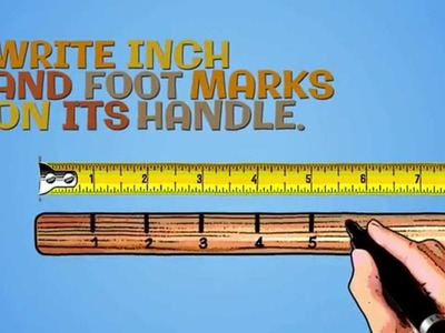 How to Make a Measuring Tool for the Garden