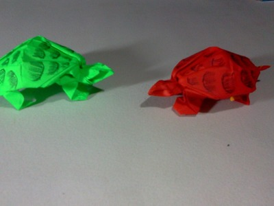 How to make Origami turtle ( Robert J. Lang )