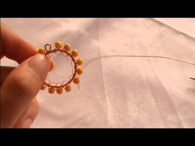 How to make wire wrap circular pendant (Part 3)