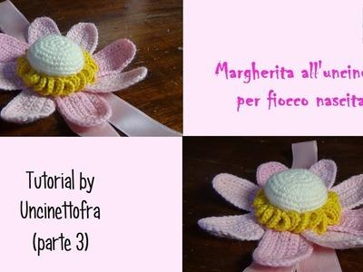 Margherita all'uncinetto per fiocco nascita tutorial (parte 3)