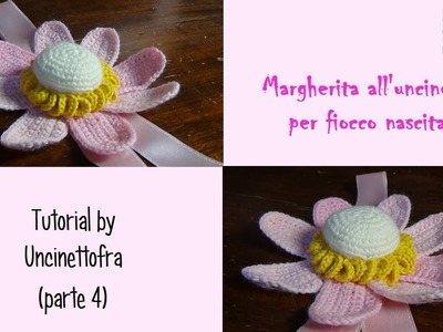 Margherita all'uncinetto per fiocco nascita tutorial (parte 4)