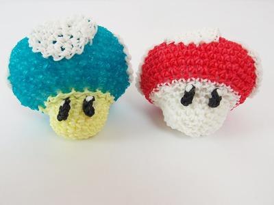 Mario Mushroom Mario Bros Rainbow Loom Bands Amigurumi Loomigurumi Hook Only Tutorial