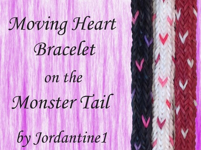 Moving Heart Bracelet made on the Monster Tail - Rainbow Loom