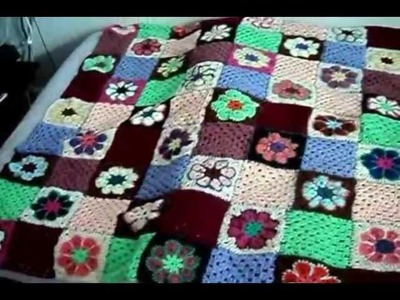 "My ""Granny- Squares- Quilt""Häkeldecke"