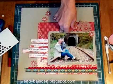 My take on Their Page a copy of Creating Keepsakes Scrapbook Pages #2