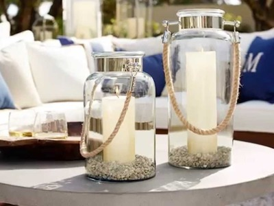 Outdoor Lanterns and Candles for Outdoor Coffee Table Decor |Pottery Barn