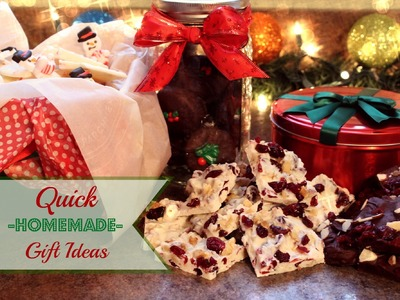 Quick Homemade Gift Ideas