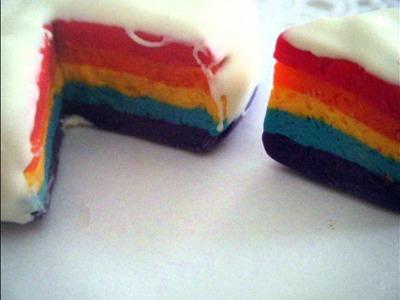 Rainbow cake (Polymer clay)