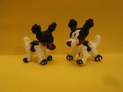 Rainbow Loom Rat Terrier Dog or Puppy Charm. 3-D.