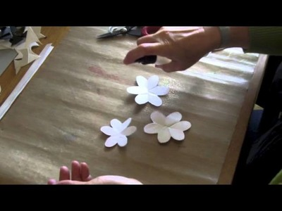 Scrunch flowers with crafters companion spray & sparkle.m4v