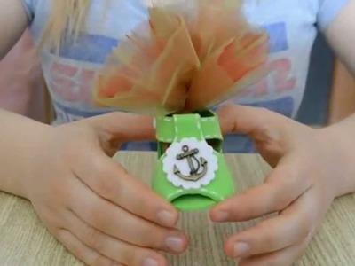 Tutorial scarpetta porta-confetti bimbo tutorial shoes for children
