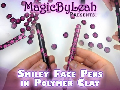 2 Methods for Covering a Pen with Polymer Clay Cane Slices - Smiley Face Project Part  2