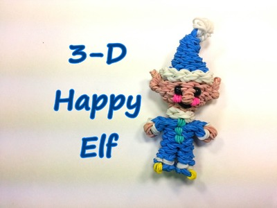 3-D Happy Elf Tutorial by feelinspiffy (Rainbow Loom)
