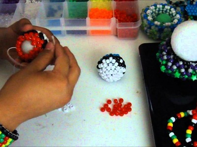 3D kandi sphere tutorial (PT2) [3D Mau5 Head]