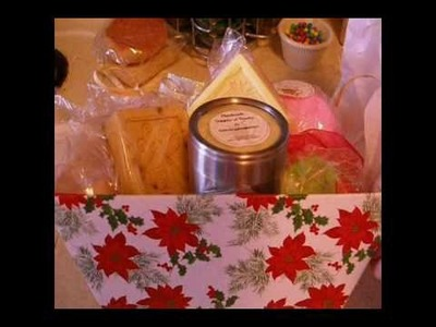 Bath Bombs, Bubble Bars, Soaps and Lotion Christmas gift baskets, all handmade
