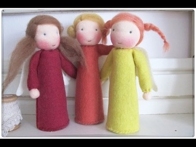 Cute Handmade Angels. Christmas Ornaments and Decorations
