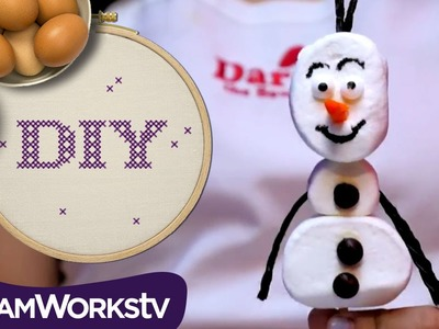 Dara the Bow Girl's Frozen Olaf Sundae I DIY