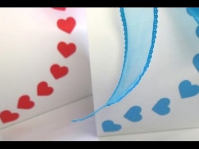 DIY : #52 Gift Bag With Love Shaped design ♥