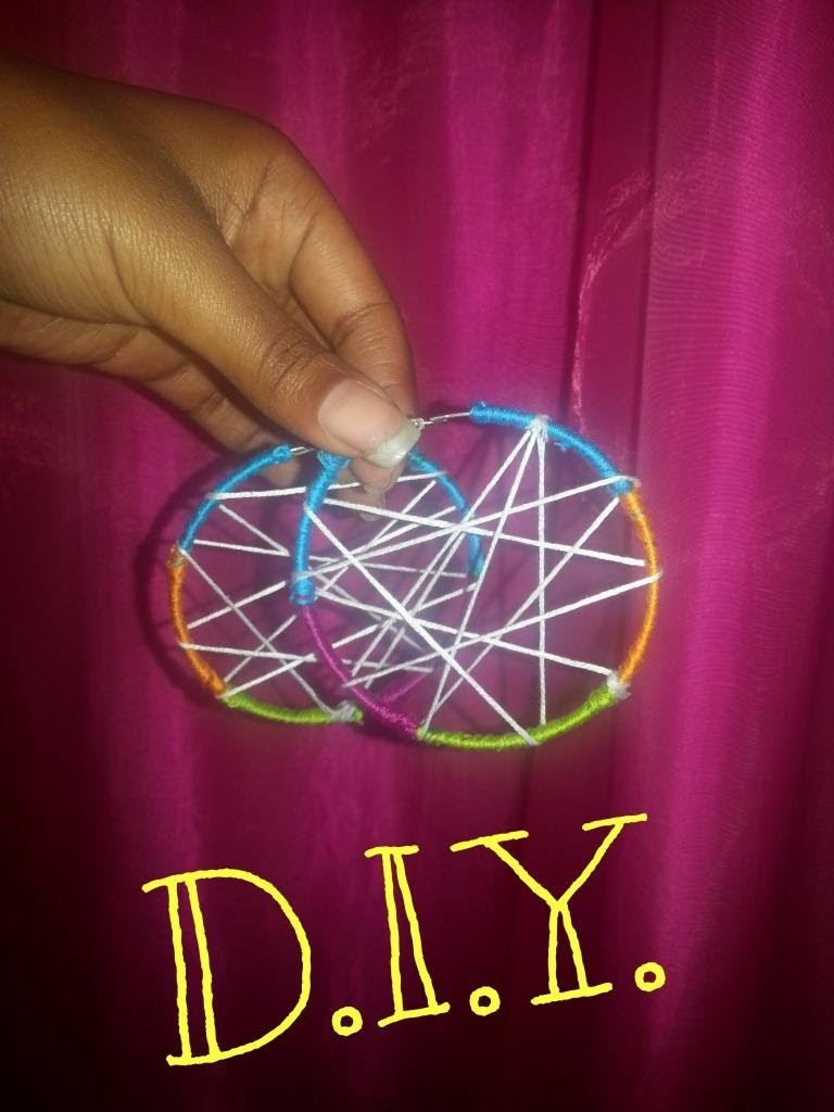 DIY: Earrings (Dream Catcher Style). How To: Upcycle Cheap Old Hoops