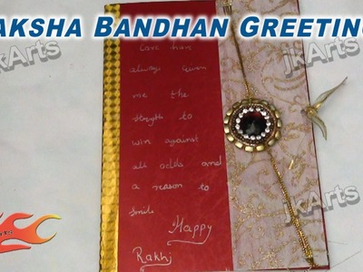 DIY How to make Greeting Card for Raksha Bandan - JK Arts 283