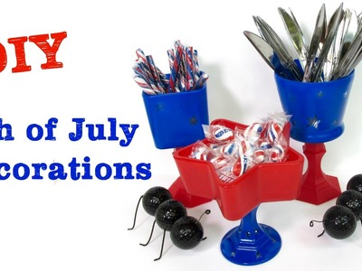 Fourth Of July Dollar Store Table Decorations DIY  Craft Klatch Dollar Store Craft Series