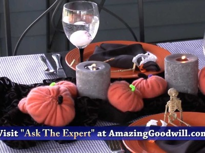 Halloween Party Decorations & Table Settings - Do It Yourself by Goodwill