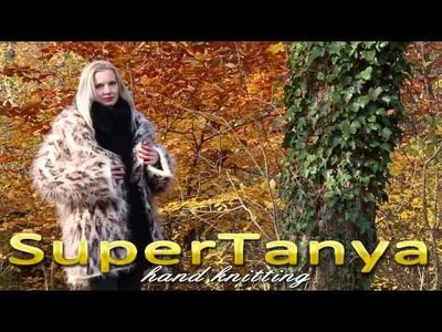 Hand knitted leopard pattern mohair fuzzy coat by SuperTanya 26.11.2012