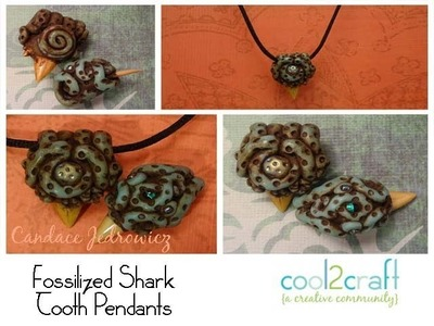 How to Create a Shark Tooth Pendant from Polymer Clay by Candace Jedrowicz