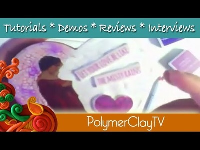 How to Image transfer onto polymer clay and papier mache heart for Valentine