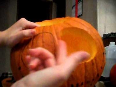 How-To Jack Skellington Pumpkin (Sort of)