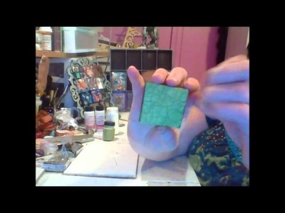 How to keep distress crackle paint from chipping off of polymer clay