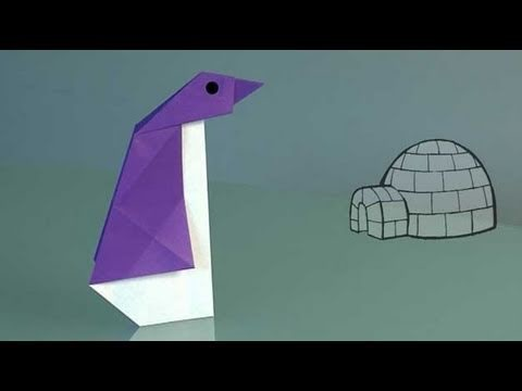 How to Make a paper Penguin, origami