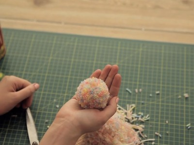 How to make a Pom Pom; quick, easy and wonderful.