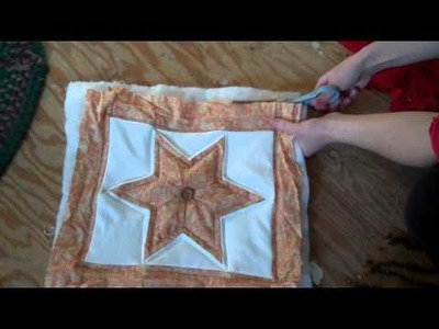 How to Make a Quilted Pillow Part 2: Quilting it