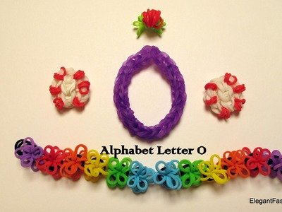 How to make alphabet letter O charm on rainbow loom
