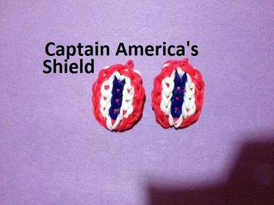 How to Make Captain America's Shield on the Rainbow Loom - Original Design
