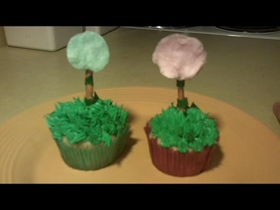 How to Make Dr Seuss Truffula Tree Birthday Cupcakes