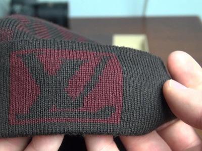 Louis Vuitton Red Damier Graphite Wool Hat Cap