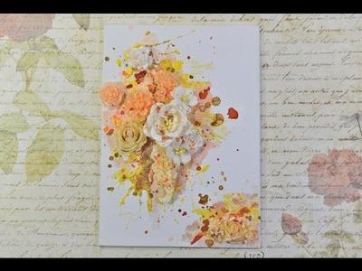 ♬ Mixed Media Resin Flower Altered Canvas Tutorial