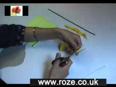 Paper flower making kit - Calla lily white, (fm43)